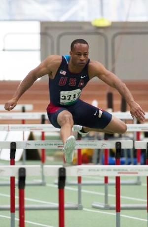 Damon running hurdles